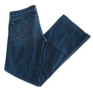7 For All Mankind DOJO Rhinestone Wide Leg Jeans